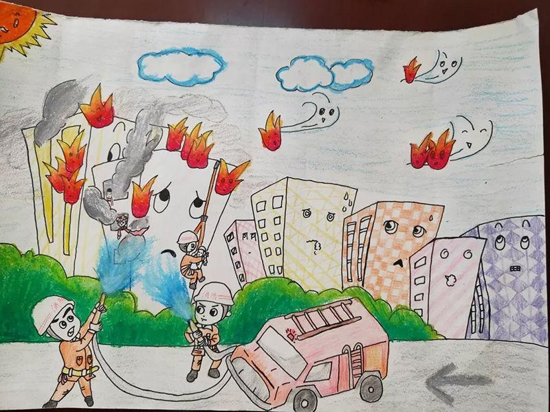 """【图说】孩子眼中的""""消防员"""","""